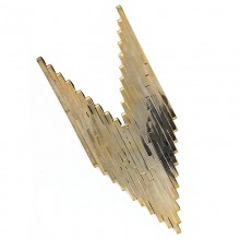 Applicazione geometrica in oro 14 cm circa
