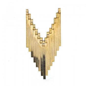 Applicazione geometrica in oro 9 cm circa