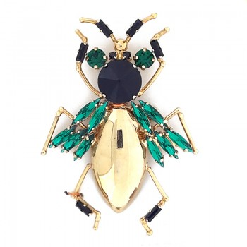 Spilla insetto con pietre mm 90