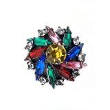 Bottone gioiello con strass colorati 35 mm