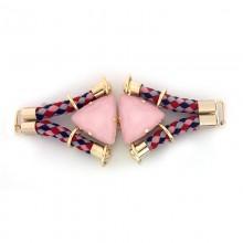 Morsetto con corda e pietre triangolari 13 cm