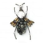 Accessorio pendente insetto con strass 9.5 cm