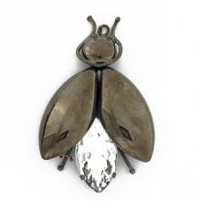 Accessorio insetto pendente con pietra 75 mm