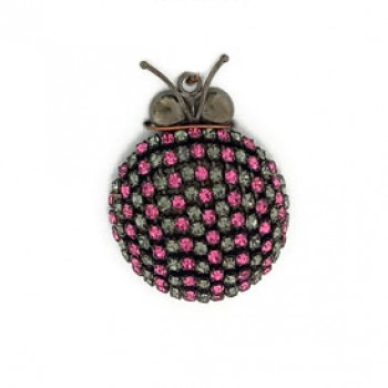 Accessorio insetto pendente con strass 40 mm