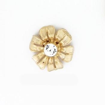 Fiore in oro con strass centrale