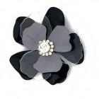 Fiore in metallo e plexi con strass al centro 70 mm