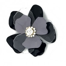 Fiore in metallo con strass al centro