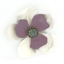 Fiore in metallo e plexi con strass al centro