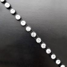 Passamaneria nera con strass crystal rotolo da 9.15 mt