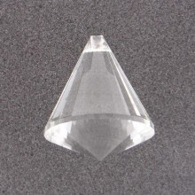 Pendente in vetro a cono mm 52 x 42