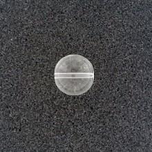 Sfera in vetro liscia con foro passante mm 13