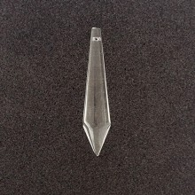Pendente in vetro a goccia allungata mm 78 x 17