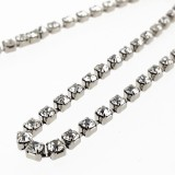 Catena strass PP14 mm2 crystal in nickel