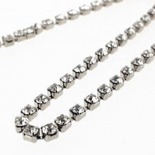 Catena strass PP18 mm2.6 crystal in nickel