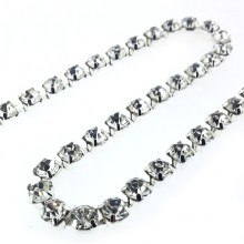 Catena strass SS29 mm 5.80 crystal in argento