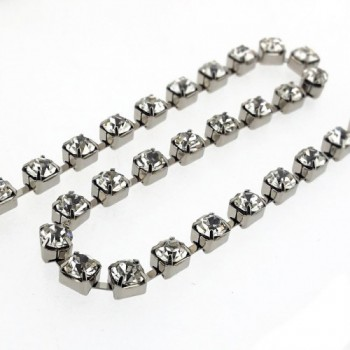 Catena strass SS29 mm 5.80 crystal in nickel