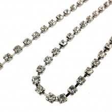 Catena strass PP24 mm 3.3 crystal in nickel
