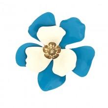Accessorio fiore in metallo con fiorellino centrale