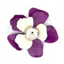 Accessorio fiore in metallo e plexi con mezza sfera centrale