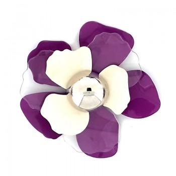 Accessorio fiore in metallo e plexi con mezza sfera 70 mm circa