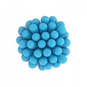 Fiore in plastica colorato mm 35