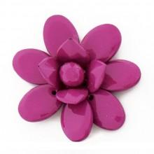 Fiore in plastica colorato mm 60