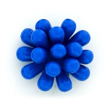 Fiore in plastica colorato mm 25