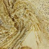 Maglia metallica oro da cm 104 x 43
