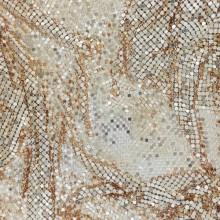 Maglia metallica oro rosa da cm 104 x 43