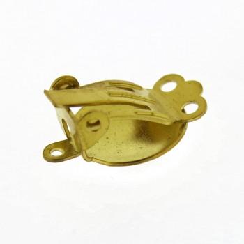 Clips con anello da mm.14 in ottone bombata
