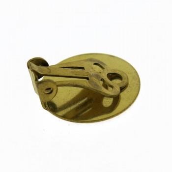 Clip per orecchino con disco da mm 20