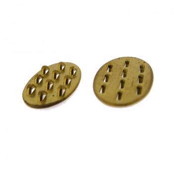 Base per clips da mm.12x20 in ottone