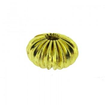 Cipolla in ottone fesonata da mm 10x7 c/foro passante