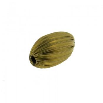 Ovalina in ottone fesonata da mm 8 x 14 con foro passante