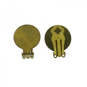 Clip per orecchino con disco da mm 18