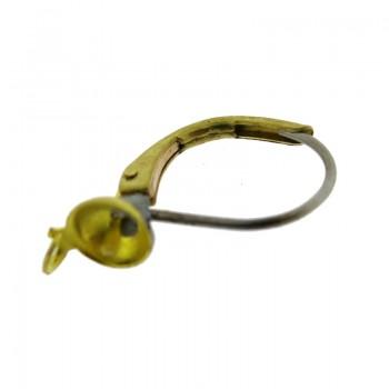 Monachella in filo per sfera 1/2 foro con anellino