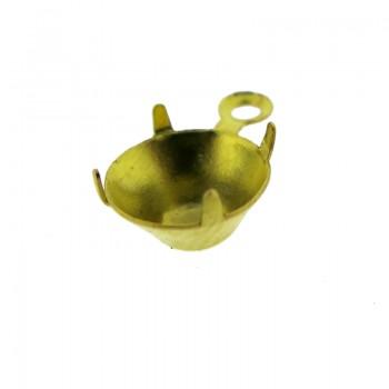 Pendente p/strass ss30 c/anello in ottone
