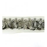 Passamaneria con particolari metallici su tulle h. 4 cm
